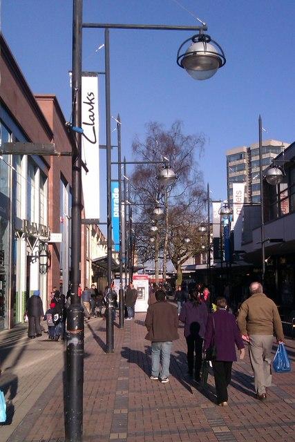 East along the Parade, Swindon