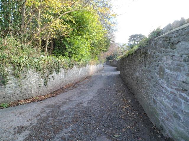 Pen-y-pound south of crossroads, Abergavenny
