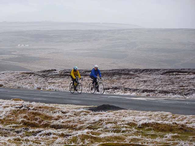 Cycling up from Stanhope