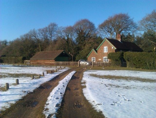 Hope Cottage after light snowfall