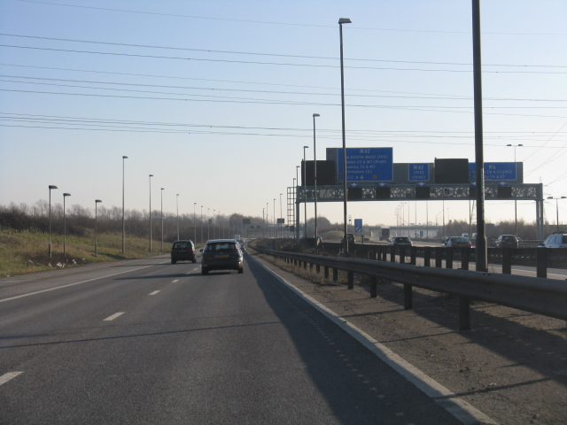 Slip roads to the southbound M42