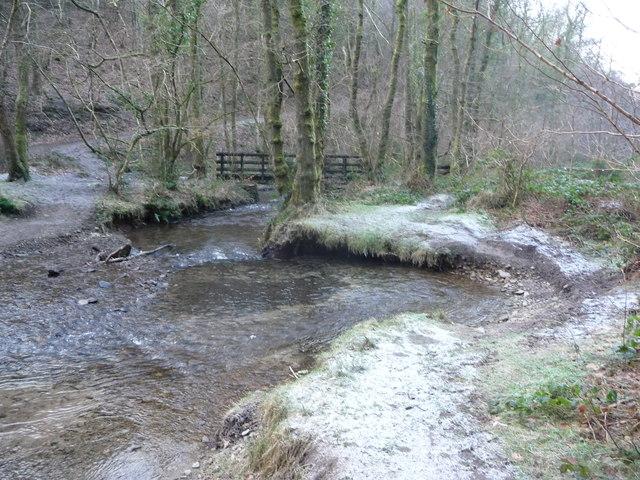 Footbridge over the Nant Gwyddon near Llanfach