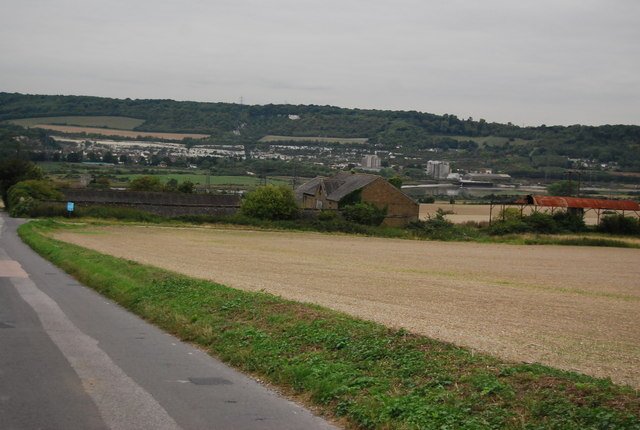 Looking into the Medway Valley from The Pilgrims Way
