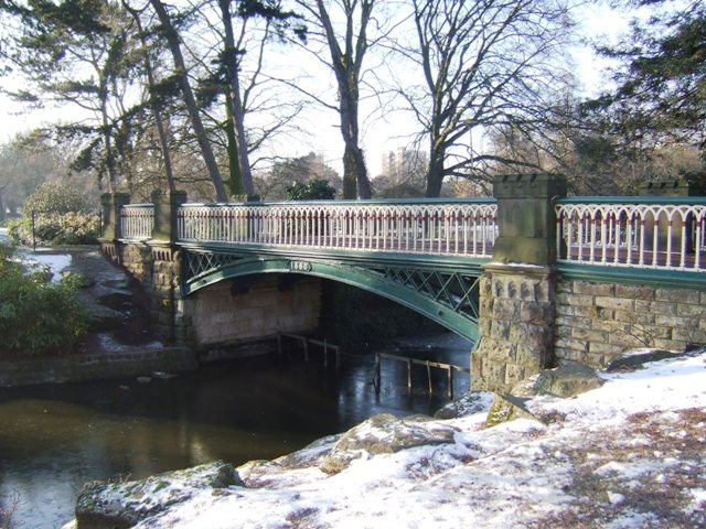 West Park bridge in winter