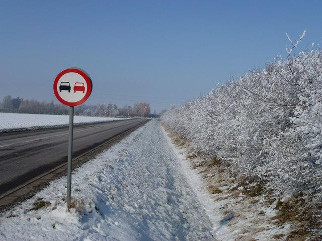 Road to Manor Farm, Holbeach Hurn in winter
