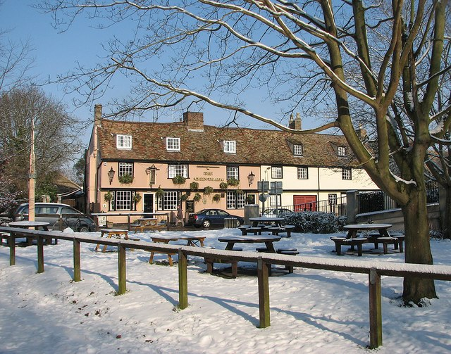 The Green Dragon in the snow