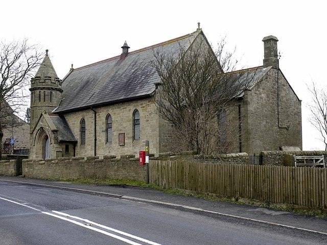 Disused chapel at Harlow Hill