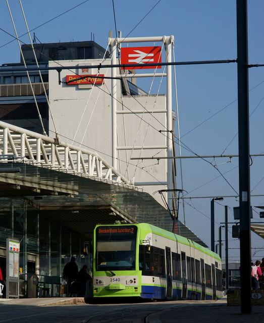 Tram at East Croydon