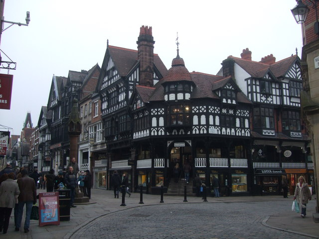 Junction of Bridge Street and Eastgate Chester