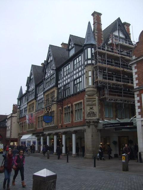The Grosvenor Hotel and entrance to shopping centre