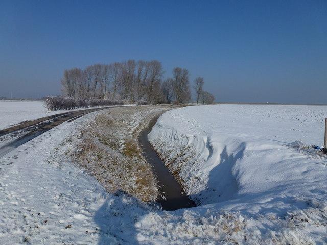 Winter scene near R.A.F. Holbeach