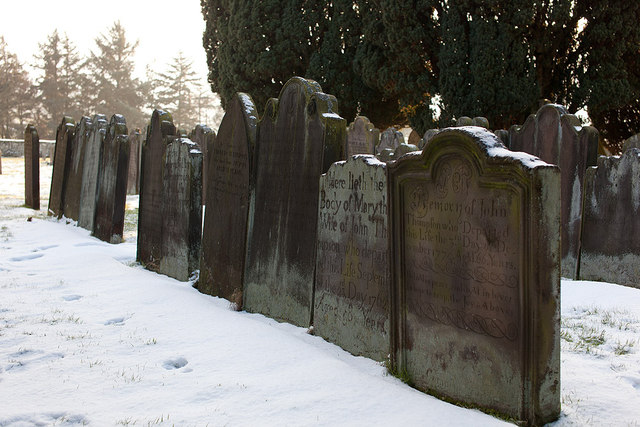 Gravestones near St Hildas