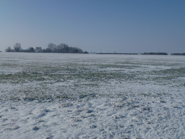 Snow covered fields near R.A.F. Holbeach