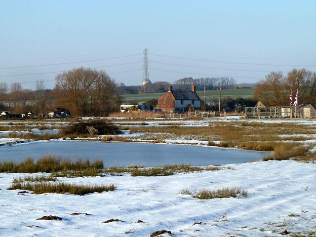 Across the frozen wastes to Marsh Foot Farm