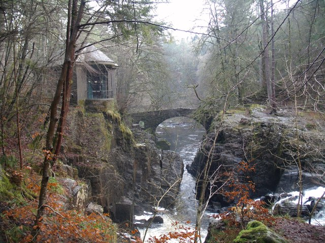 Ossian's Hall and Hermitage Bridge