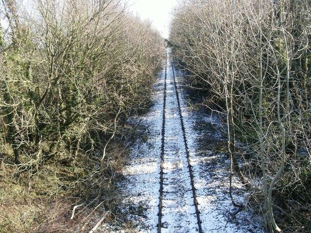 Disused railway near Hollinhill Grips