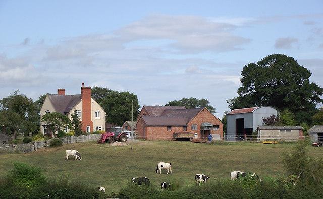 Barn Bridge Farm north-west of Gnosall Heath, Staffordshire