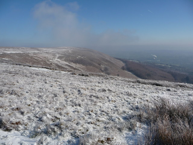 View off Mynydd Maen in winter