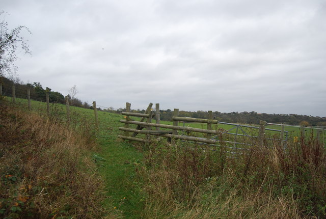 Stile on footpath to high Halstow