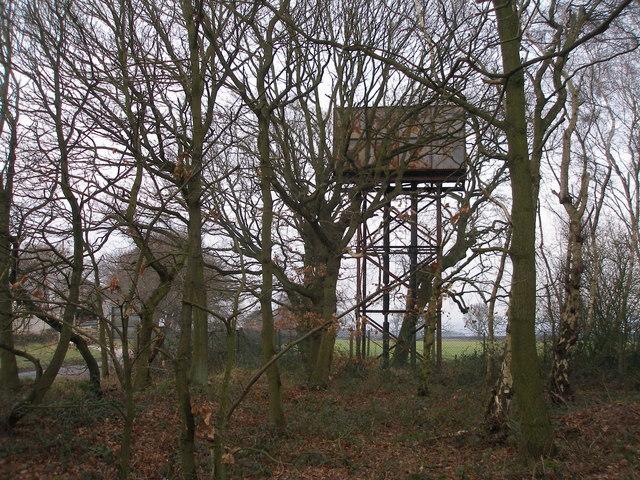 Water tower just off Intake Lane