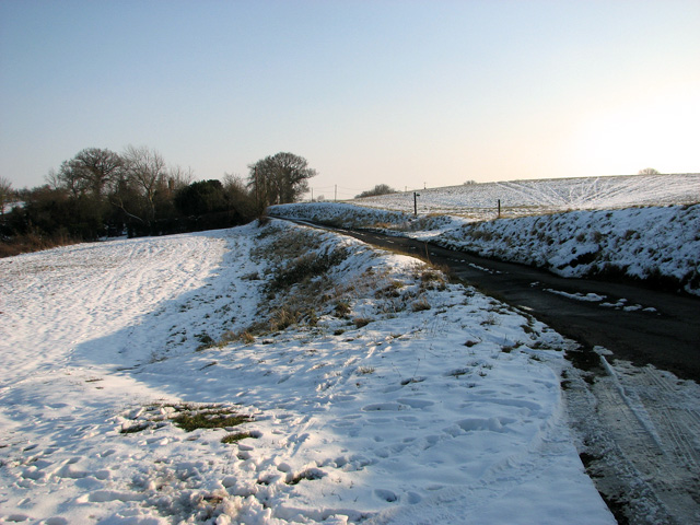 Country lane to Chattisham