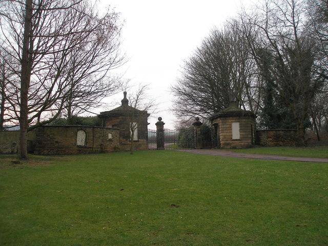 Woolley Hall gates