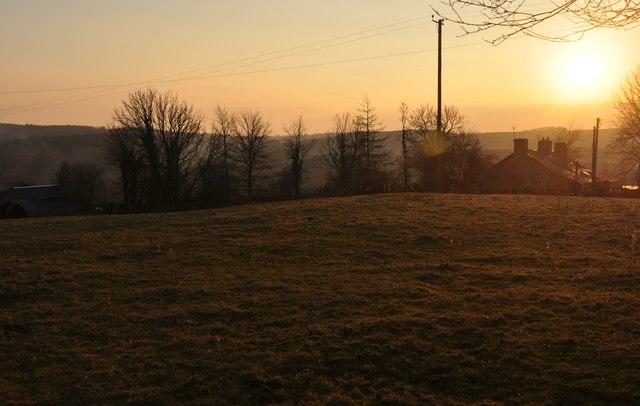 Mid Devon : Field & Sunset