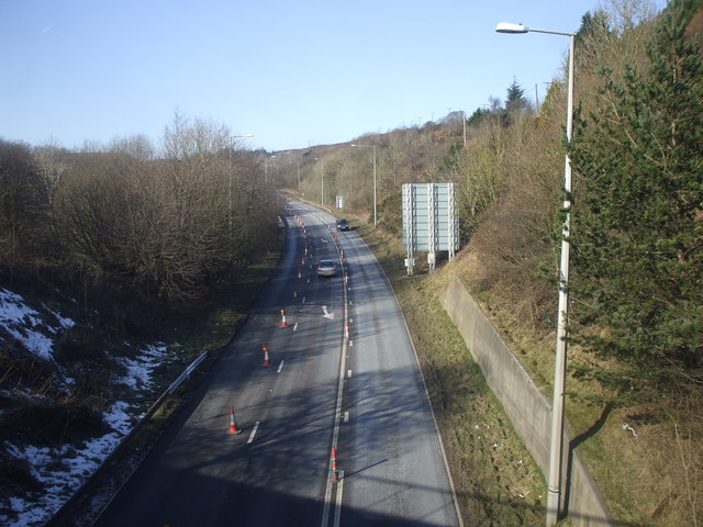 The A465, Heads of the Valleys Road, at Brynmawr