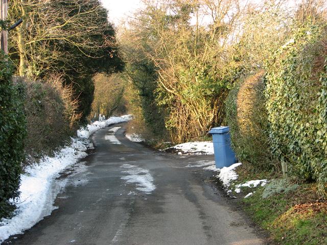 Rural lane to Hintlesham