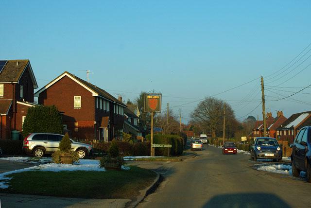 Red Lion inn sign, Hooe Common
