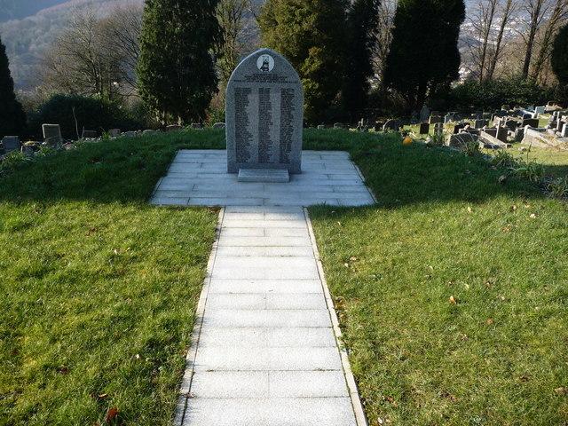 Mining disaster memorial at Abercarn