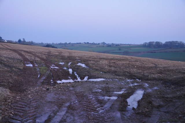 Mid Devon : Muddy Field Entrance