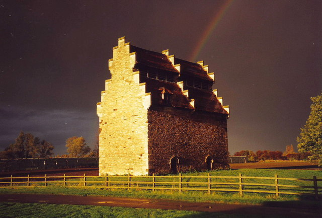 Rainbow over Willington Dovecote