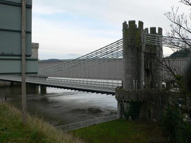 Two bridges, Conwy
