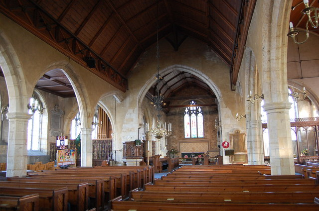 Interior, St Mary's  church, Goudhurst