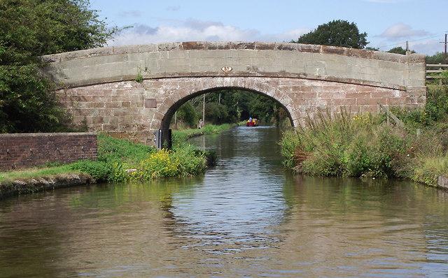 Barn Bridge north-west of Gnosall Heath, Staffordshire
