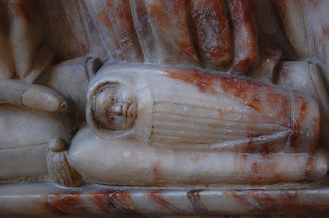 Chrism baby, Culpeper Memorial, St Mary's Goudhurst