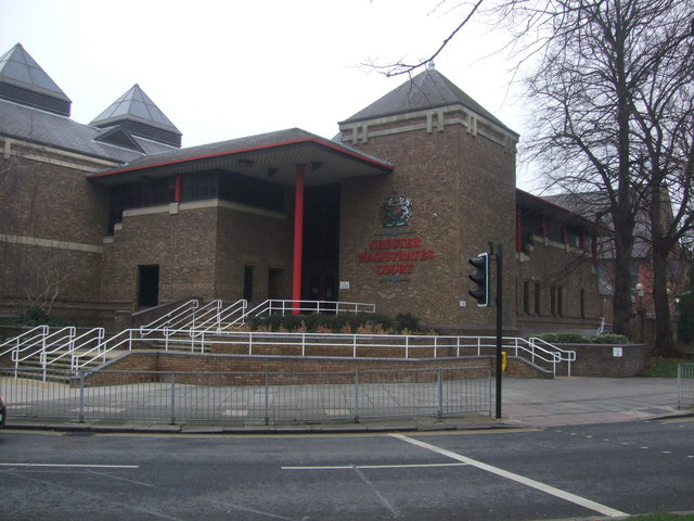 Entrance to Chester Magistrates Court