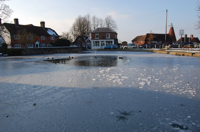 Ice on Goudhurst Pond