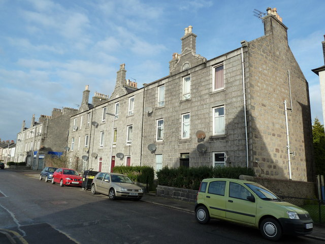 Granite block, Elmbank Terrace, Aberdeen