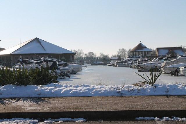 Burton Waters in Winter