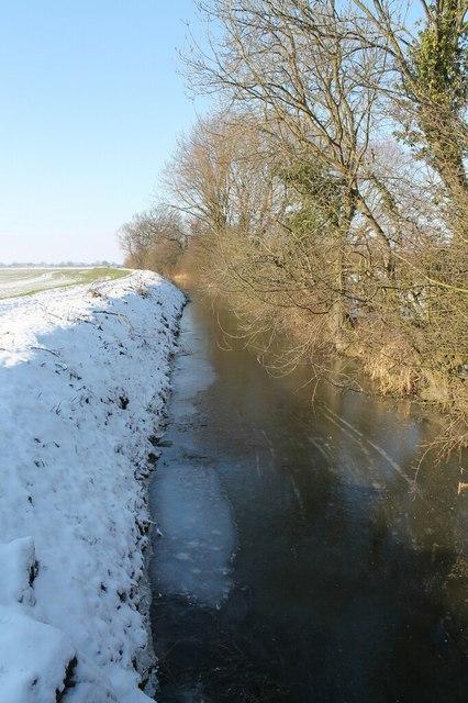 Frozen Catchwater Drain
