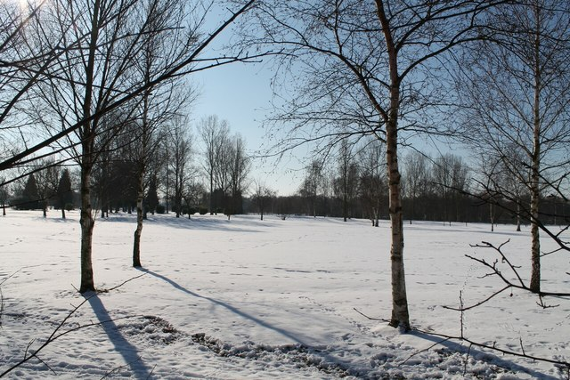 Carholme Golf Course in Snow
