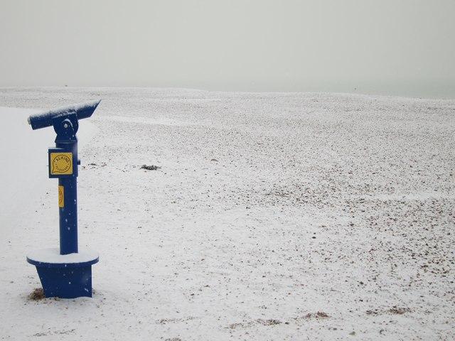 Telescope on Pelham Beach
