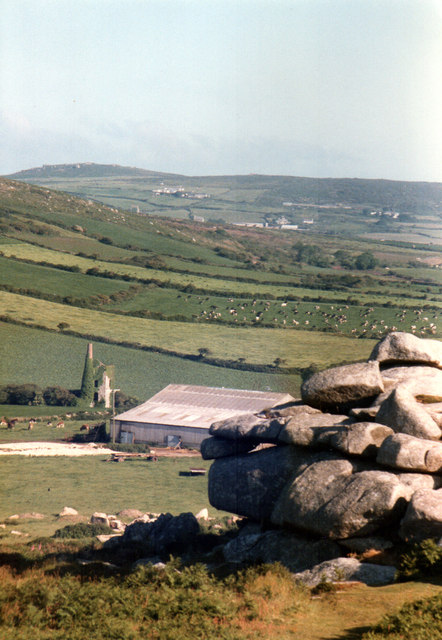 View From Top of Trencrom Hill 1985