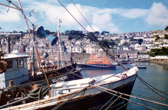 RNLI Lifeboat in Newlyn 1985