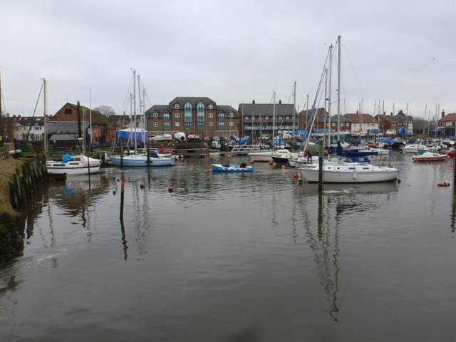 Eling: the marina from across Bartley Water