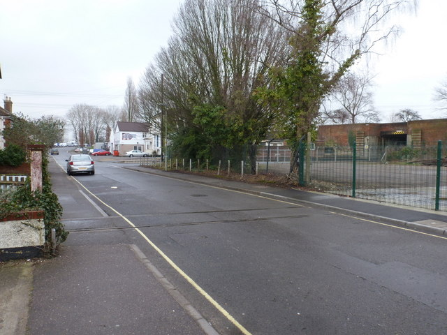Totton: disused level crossing on the High Street