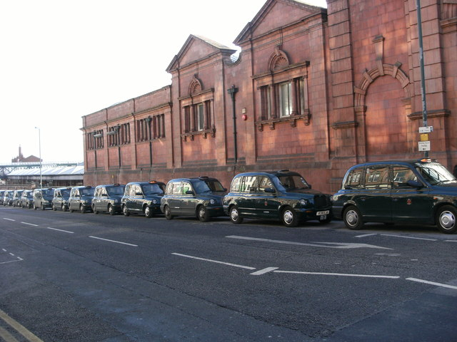 Taxis on Station Street