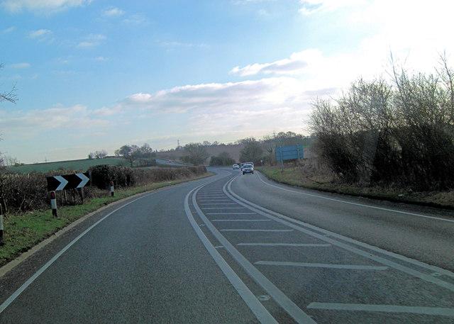 A4074 west of Nineveh Farm